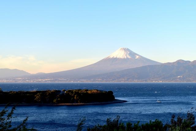 大瀬崎から見える富士山