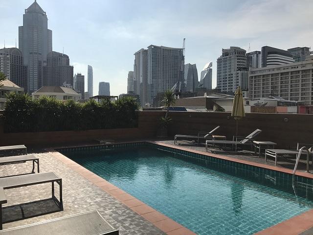 バンコクのホテルの屋上から